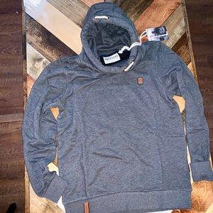 NWT NAKETANO Men's Birol XI Hooded Zip Jacket M L NWT